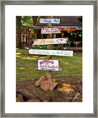 Route 66 Signs Framed Print by Betty LaRue