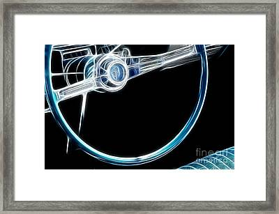 Route 66 Take The Wheel Framed Print by Bob Christopher