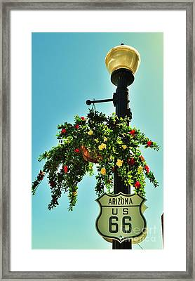 Route 66 Williams Arizona Framed Print by George Sylvia