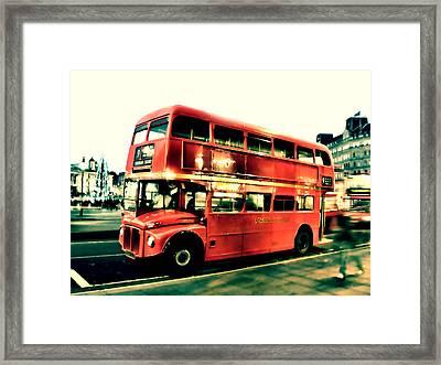 Routemaster Retro Pop Art  Framed Print by Jasna Buncic