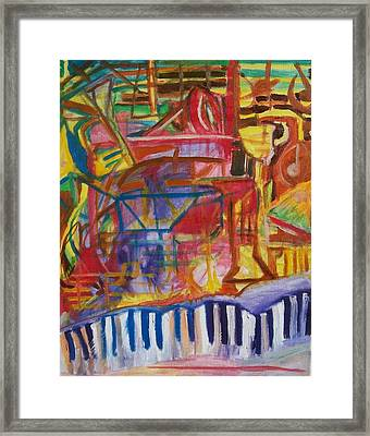 Routes Of Jazz Framed Print by James Christiansen