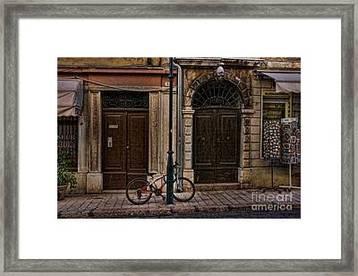 Rovinj Bicycle Framed Print