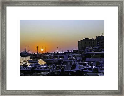 Rovinj Sunset Framed Print by Madeline Ellis