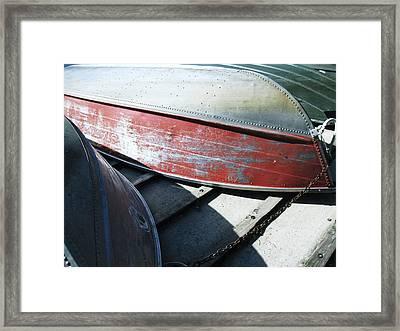Row Baots Framed Print by Todd Sherlock