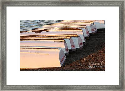 Row Boats Framed Print