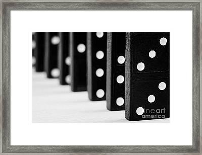 Row Of Dominoes Framed Print by Joe Fox