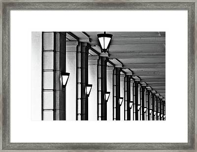 Row Of Lamps Framed Print by Jeremy Vickers Photography