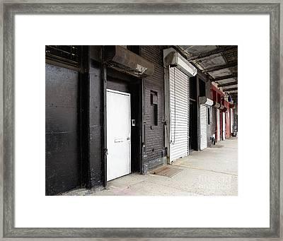 Row Of Loading Bay Doors Framed Print