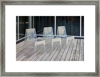 Row Of Modern Translucent Chairs Framed Print by Jaak Nilson