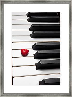Row Of Piano Keys Framed Print by Garry Gay