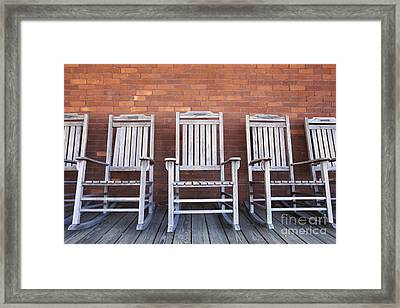 Row Of Rocking Chairs Framed Print by Skip Nall