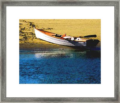 Rowboat At Mother's Beach Framed Print by Timothy Bulone