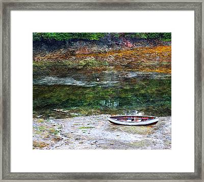 Framed Print featuring the photograph Rowboat In The Slough by Michele Cornelius