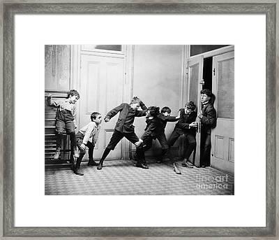 Rowdy Schoolboys, C1900 Framed Print by Granger