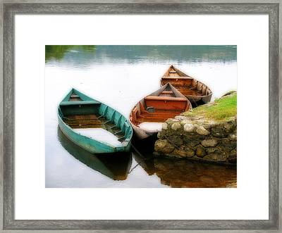 Framed Print featuring the photograph Rowing Boats Out Of Season by Rod Jones