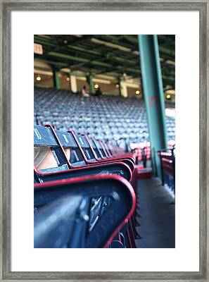 Rows Of Empty Field Box Seats At Fenway Boston Framed Print by Loud Waterfall Photography Chelsea Sullens