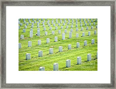 Rows Of War Graves Framed Print by Dave & Les Jacobs