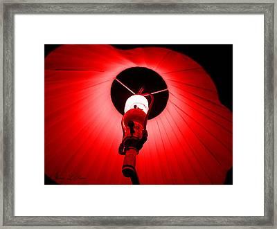 Roxannes Red Light Framed Print by Shana Rowe Jackson