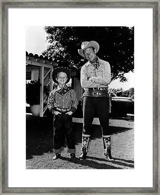 Roy Dusty Rogers Jr., And His Father Framed Print by Everett
