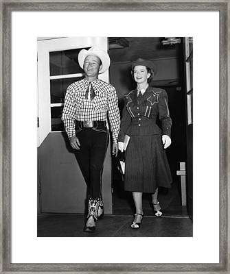 Roy Rogers, And His Wife Dale Evans Framed Print by Everett
