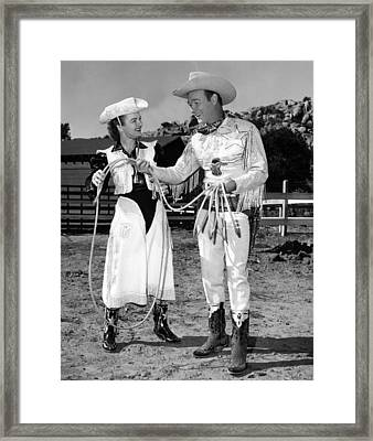 Roy Rogers Right, And His Wife Dale Framed Print by Everett