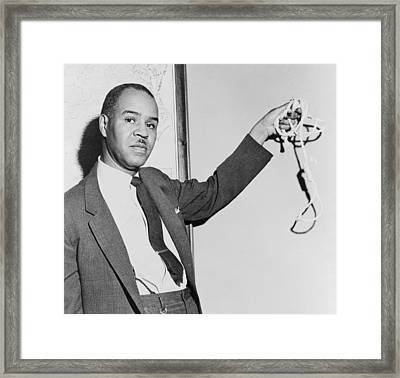 Roy Wilkins 1901-1981, Naacp Executive Framed Print by Everett