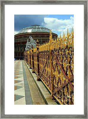 Royal Albert Hall And Golden Gate Framed Print by Sophie Vigneault