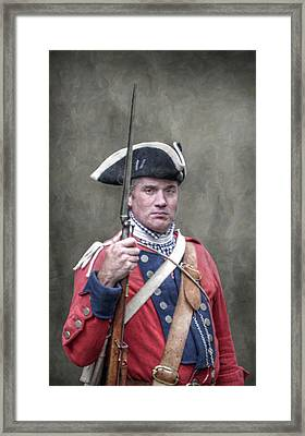Royal Americans Soldier Portrait French And Indian War Framed Print by Randy Steele
