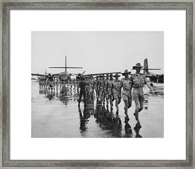 Royal Australian Air Force Arrives Framed Print by Everett
