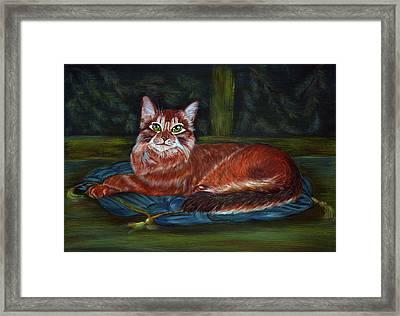 Royal Cat Framed Print by Elena Melnikova