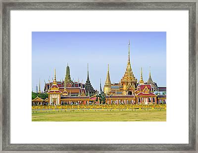 Royal Cremation Ceremony Framed Print by Vudhikrai Sovannakran
