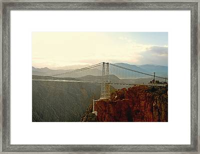 Royal Gorge Bridge Colorado - Take A Walk Across The Sky Framed Print by Christine Till