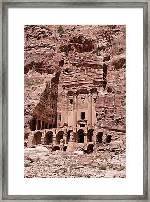 Royal Graves, Djebel Khubtha, Petra, Jordan Framed Print by Patrice Hauser