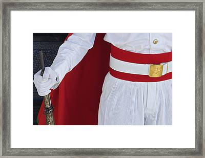 Royal Guard At Mohammed V Mausoleum Framed Print by Axiom Photographic