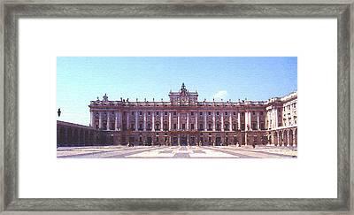 Royal Palace Madrid Framed Print by Steve Huang
