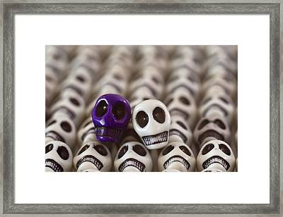 Royal Purple And White Framed Print by Mike Herdering