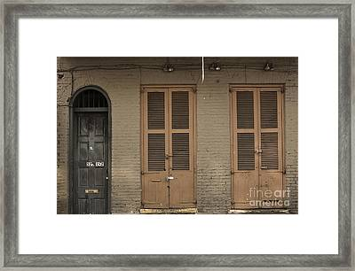 Royal Street Framed Print by Leslie Leda