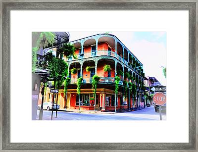 Royal Street - New Orleans Framed Print by Bill Cannon