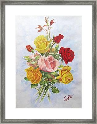 Roze1 Framed Print by Samira Abbaszadeh charandabi