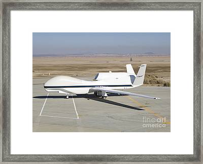 Rq-4 Global Hawk Aircraft Framed Print by Photo Researchers