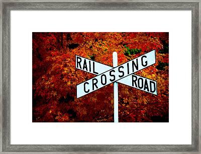 Rr Crossing Framed Print by Frank DiGiovanni