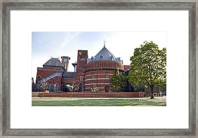 Rst And Swan Theatre Framed Print by Jane Rix