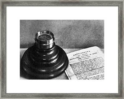 �rsteds Magnetic Compass Framed Print by Science Source
