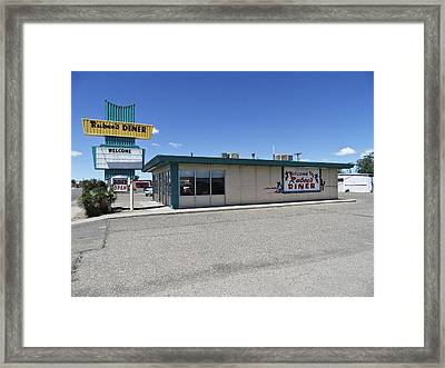 Rt 66 Rubee's Diner Framed Print by Paul Plaine