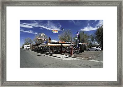 Rt 66 Snow Cap Dinner Framed Print by Paul Plaine