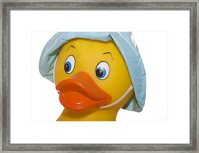 Rubber Ducky Closeup Framed Print by Trudy Wilkerson