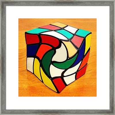 Rubik's Revenge Framed Print