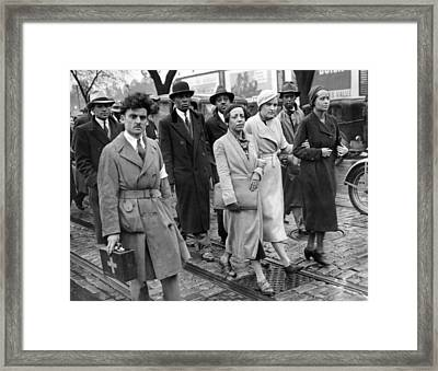 Ruby Bates, One Of The Two Original Framed Print by Everett