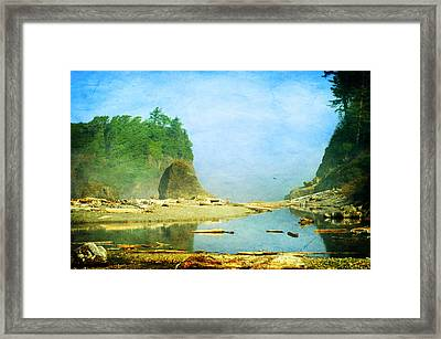 Ruby Beach Dreams Framed Print by Terrie Taylor