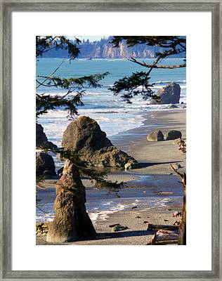 Framed Print featuring the photograph Ruby Beach Iv by Jeanette C Landstrom